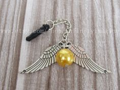 golden snitch dust proof plug, wings dust proof plug,harry potter charms for iphone 5 4s 4, 3.5mm dust proof plug for Samsung Blackberry HTC on Etsy, $1.99