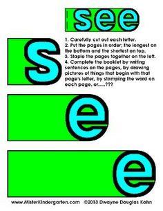 WORDPLAY: SEE (SIGHT WORD ACTIVITIES) Free sample of sight word 'like'