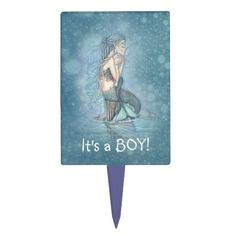 Shop Mermaid It's a Boy Gender Reveal Baby Shower Cake Topper created by Catchthemoon. Male Mermaid, Baby Congratulations Card, Mermaid Baby Showers, Mermaids And Mermen, Mermaid Tattoos, Baby Shower Invitations, Custom Invitations, Invites, Baby Shower Gender Reveal