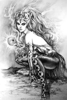 "comic-book-ladies: ""Amora The Enchantress by Arantza Sestayo "" Enchantress Marvel, Amora The Enchantress, 3d Fantasy, Fantasy Kunst, Comic Kunst, Comic Art, Colouring Pages, Adult Coloring Pages, Marvel Comics"