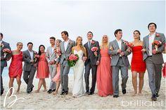 Coral themed beach wedding at Grace Bay Club in Turks & Caicos | Brilliant Blog