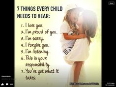 7 things a child should know