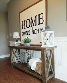 Below are the Farmhouse Sofa Table Ideas. This post about Farmhouse Sofa Table Ideas was posted under the Furniture category. Foyer Table Decor, Farmhouse Entryway Table, Decoration Hall, Diy Sofa Table, Table Decor Living Room, Sofa Tables, Entryway Decor, Room Decor, Table Decorations