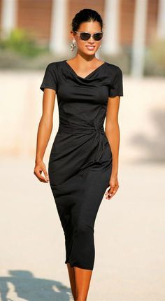 Madeleine Jersey Dress Black great look in any locale Mode Chic, Mode Style, Pretty Dresses, Beautiful Dresses, Look Fashion, Womens Fashion, Looks Style, Mode Inspiration, Casual Chic