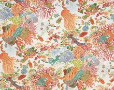 """Of all the myriad sea life themed fabrics, I do believe Pierre Frey's """"Antilles"""" is my favorite. The palette is so beautiful and the sense of movement is just lovely."""