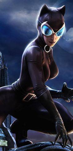 Catwoman Comic, Catwoman Cosplay, Batman And Catwoman, Batgirl, Dc Comics Girls, Dc Comics Art, Marvel Dc Comics, Batman Arkham City, Gotham