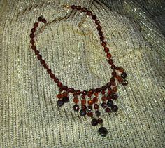 Vintage Amber Lucite Bead Necklace - West Germany  PLCandMore on Etsy