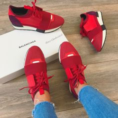 ☞Balenciaga sneaker Red My absolute favorite! Tash Post Style
