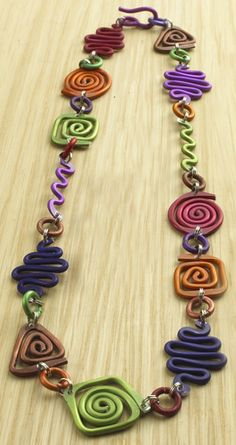 Polymer clay swirls and coils