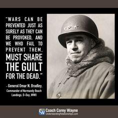 #omarbradley #generalbradley #usarmygeneral #unitedstates #army #wwii #dday #normandybeach #war #coachcoreywayne #greatquotes