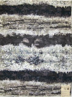 Mayday. David and Dash. Miami, FL. 1960s.    This textile echoes the textures and colors of Anselm Kiefer paintings.