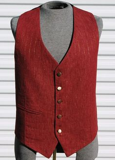 The Alchemist Rust and Brass Mens Steampunk Vest by OLearStudios, $92.00