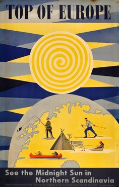 Vintage Travel Poster: 'Top of Europe' Northern Scandinavia 1950