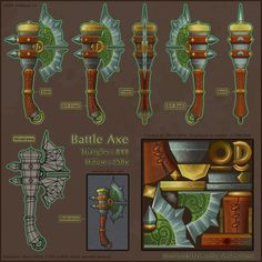 Battle Axe - Hand painted texture - Polycount Forum
