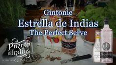 Gintonic 'Estrella de Indias' con Gin Premium Puerto de Indias Strawberry India, Gin, Soap, Bottle, Cocktails, Stars, Goa India, Flask, Jeans