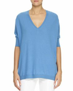 Oversized Dolman-Sleeve Cashmere Sweater by Reed Krakoff at Neiman Marcus.