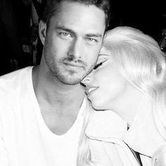 Chicago Fire - Taylor Kinney & Singer Lady Gaga Taylor Kinney Chicago Fire, Tony Bennett, Cinema, Famous Couples, Pop Singers, The Girl Who, Lady Gaga, Celebrity Crush, Movie Stars
