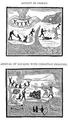 Illustrations from a Chapbook on Robinson Crusoe (ca.1800) | The Public Domain Review