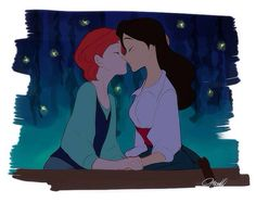Gender bent Ariel and Eric