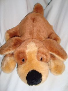 "Quality Product Plush Brown Puppy Dog Laying stuffed animal toy Black Nose 14"" #QualityProduct"