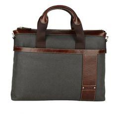 db9338e47fe Amazon.com  Filmbel Men s Canvas Leather Briefcase Laptop Messenger Bag  Gray Fp0031-3  Clothing