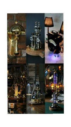 Steampunk Interior, Steampunk Design, Steampunk Lamp, Steampunk Accessories, Etsy Seller, Crafty, Lights, Group, Board