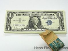 1957 B Uncirculated 50 One Dollar Bill Silver Certificate Star Note Fifty Pack