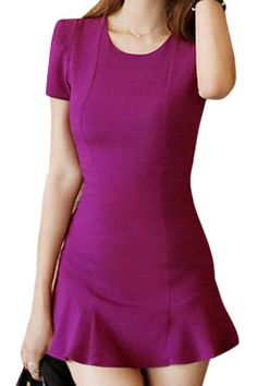 ROMWE | Falbala Sheer Purple Bodycon Dress, The Latest Street Fashion
