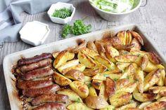 Rezepte mit Herz: Kartoffeln und Rostbratwürstchen mit Kartoffelcreme ♡