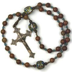 33 Bead Orthodox Chotki Jesus Prayer Beads in by prayerbedes Rosary Prayer, Jesus Prayer, Prayer Beads, Rosary Beads, Petrified Wood, Son Of God, Crucifix, Glass Beads, Prayers