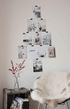 Árvore de Natal criativa com fotos