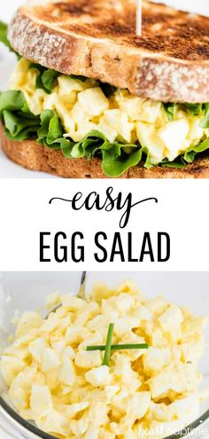 This easy Egg Salad Recipe requires only 4 simple ingredients and takes just 10 minutes to make. It's a quick and flavorful dish that's perfect for lunch or dinner. #eggs #eggsalad #eggrecipes #sandwiches #sandwichrecipes #lunch #lunchtime #lunchideas #easy #easyrecipe #salad #saladrecipes #recipes #iheartnaptime