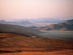 Marvel at towering desert dunes & explore beautifully wild landscapes on a Namibia #safari. #Africa #travel #landscape