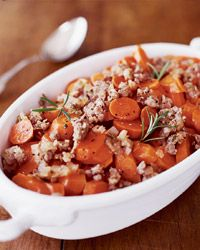 Carrots with Sausage and Rosemary Recipe from Food & Wine