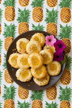 Pineapple Coconut Thumbprint Cookies | Cooking Classy