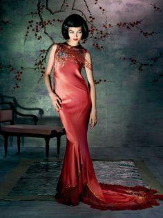 "Fei Fei Sun in ""Go East"" by Steven Meisel for Vogue, May 2015"