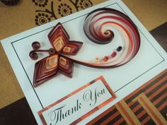 Brown Butterfly Quilled Card