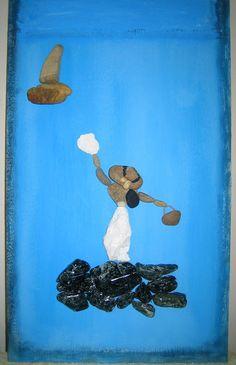 Kavicsokból és kövekből készült kép.. #livepebble #stoneart #pebble #pebbleart #art