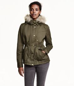H&M Short Parka - Khaki Green. Bought this coat from one of their stores!! I love it so much!!