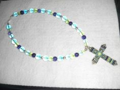 Colorful Cross Pendant Necklace | jazznitup - Jewelry on ArtFire