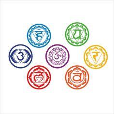 Chakras Wall Stickers (7 pieces set)