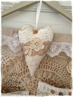 A burlap and lace wow!
