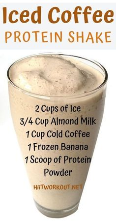 Shake Recipe It is super filling holds over until lunch low in calories high in protein and the perfect morning drink and weight lossIced Coffee Protein Shake Recipe It i. Healthy Smoothies, Healthy Drinks, Healthy Snacks, Healthy Eating, Healthy Recipes, Diet Drinks, Beverages, Detox Recipes, Clean Eating