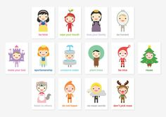 Happy Manners Card Set by TofufuStudio.