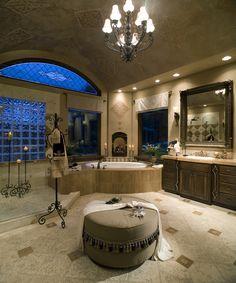 This may be the biggest master bathroom we have ever seen. #luxury #bathroom #masterbathroom