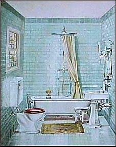 Old Bathroom Print Ad Circa Early