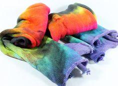 Hand Dyed Sock Yarn - Sock Blank - Superwash Merino Nylon - 463 yards - Neon Blitz