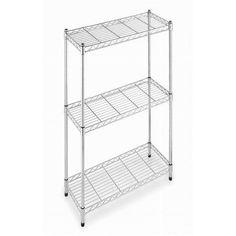 Easy Home 3-Tier Shelf, Zinc