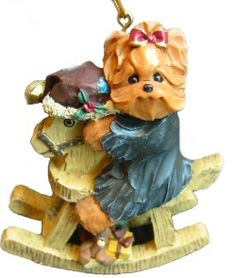 Treasured Tails Yorkie Rockinghorse Ornament. How cute would this look on the Christmas Tree? Available at CollectibleShopping.com