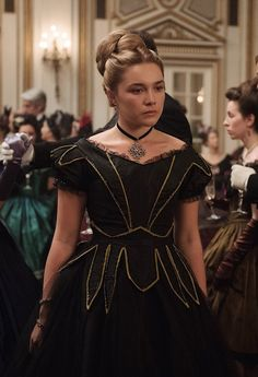 """franciswilloughby: """"Do these two stills go together to form a scene from Little Women? They look like they do, so I will pretend Amy is about to go off on Laurie. Amy, Florence Pugh, Movie Costumes, Costume Design, Funeral, Ball Gowns, Actresses, Role Models, Outfits"""